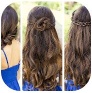 Cute girl hairstyle