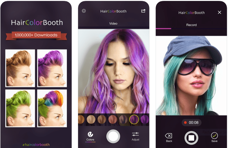 Hair color booth