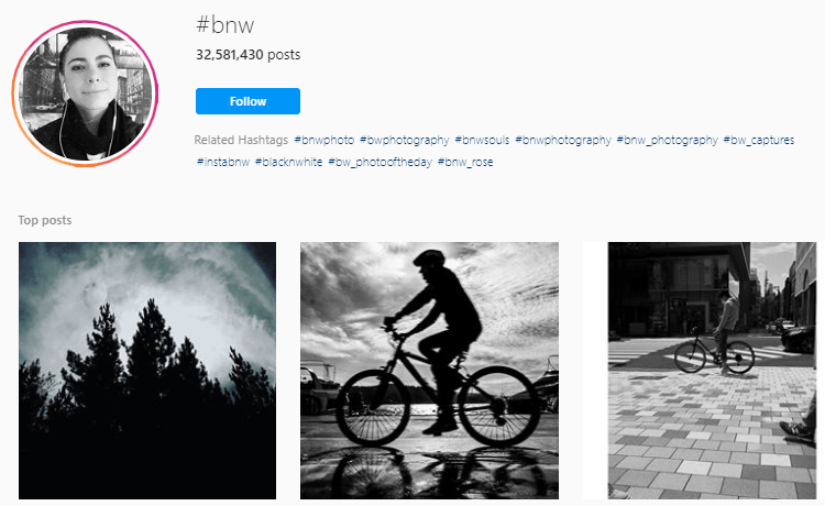 Black and white photography hashtags
