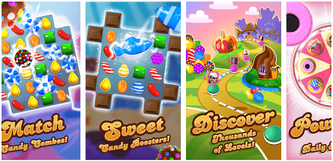 Candy Crush Saga: Games without Internet