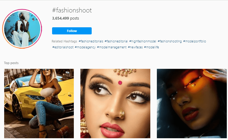 Best Hashtags for fashion photography