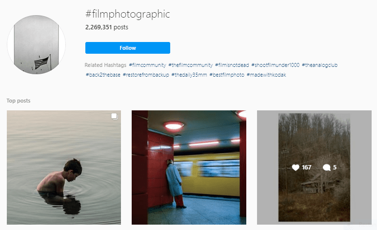 Instagram Hashtags for Film Photography