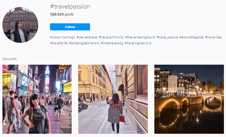 Best Hashtags for travel photography
