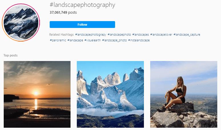 Landscape Hashtags For Instagram Photography