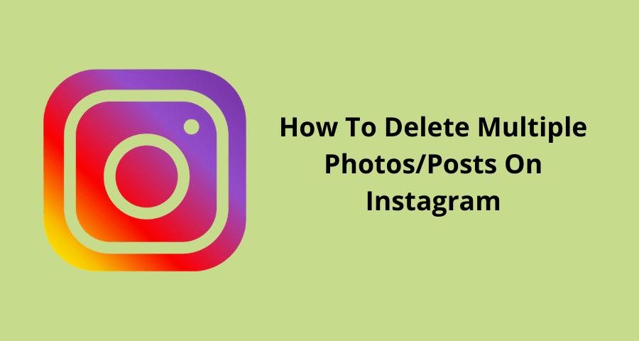 delete instagram posts or photos