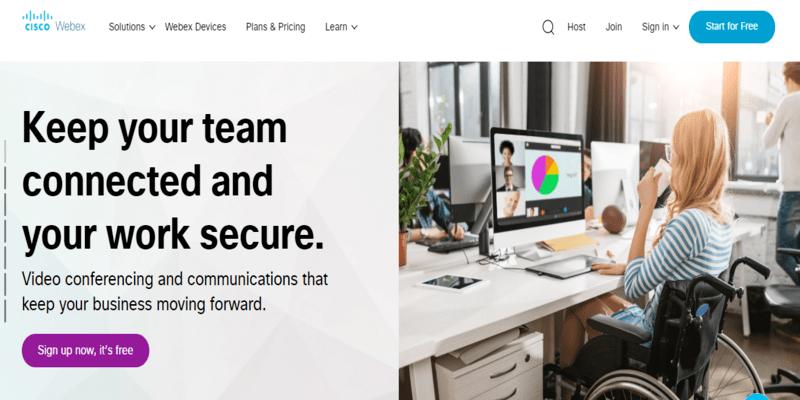 WebEx: Top webinar software