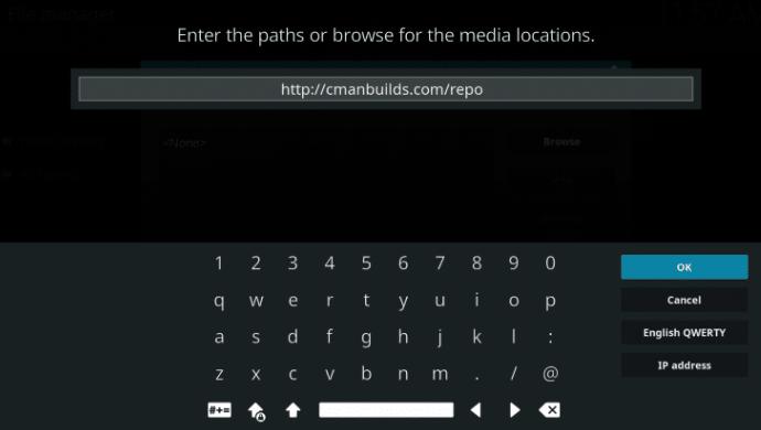 Type the URL