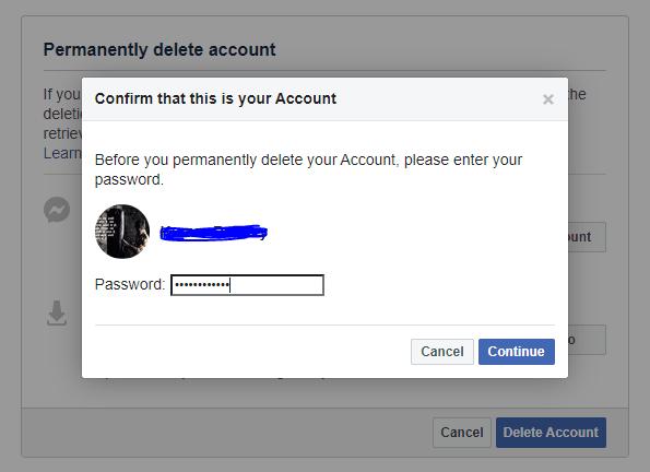 Facebook Continue
