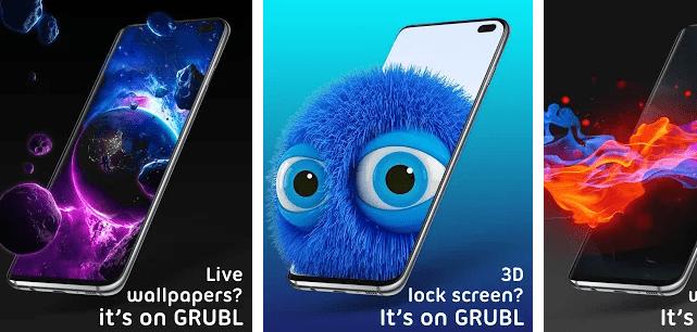 Live Wallpapers, 3D Lock Screen, Ringtones – GRUBL