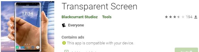 Transparent screen
