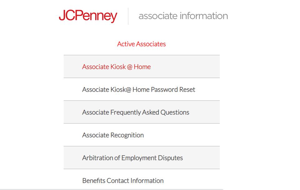 click on Associate Kiosk