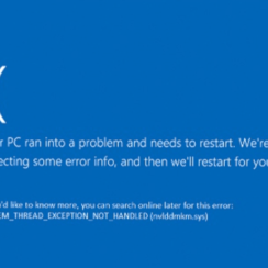 ix system thread exception not handled error